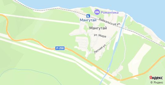 ГСК Железнодорожник на карте Слюдянки с номерами домов