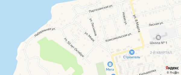 Улица Мира на карте Киевского микрорайона с номерами домов