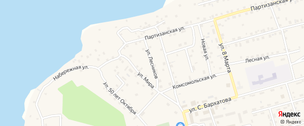 Улица Лесников на карте Киевского микрорайона с номерами домов