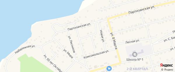 Улица Комарова на карте Киевского микрорайона с номерами домов