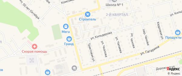 Улица Кильдерова на карте поселка Новой Игирмы с номерами домов