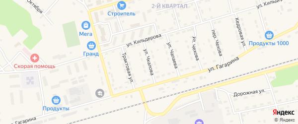 Улица Чкалова на карте поселка Новой Игирмы с номерами домов