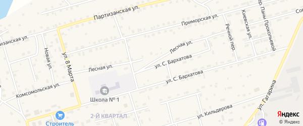 Лесная улица на карте поселка Новой Игирмы с номерами домов