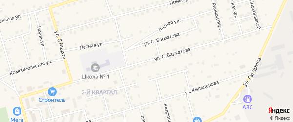 Улица С.Бархатова на карте поселка Новой Игирмы с номерами домов