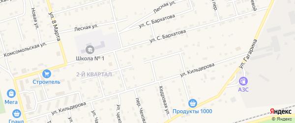 Строительный переулок на карте поселка Новой Игирмы с номерами домов