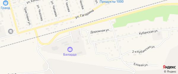 Кубанский переулок на карте поселка Новой Игирмы с номерами домов