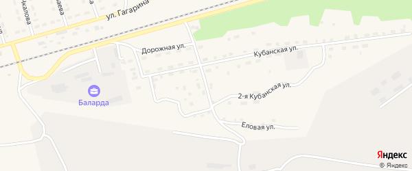 Кубанский 2-й переулок на карте поселка Новой Игирмы с номерами домов