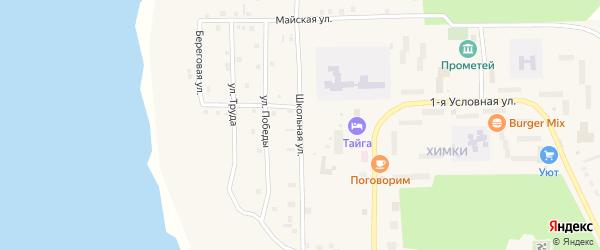 Школьная улица на карте Речного микрорайона с номерами домов