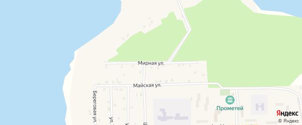 Мирная улица на карте Речного микрорайона с номерами домов