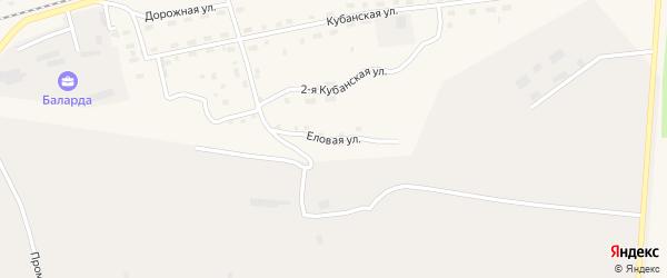 Еловая улица на карте поселка Новой Игирмы с номерами домов