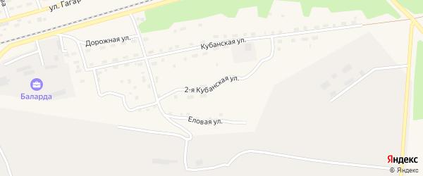 Кубанская 2-я улица на карте поселка Новой Игирмы с номерами домов