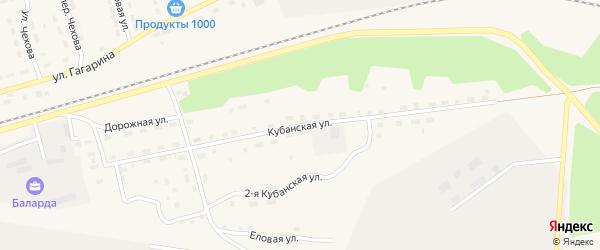 Кубанская улица на карте поселка Новой Игирмы с номерами домов