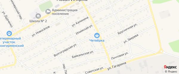 Волгоградская улица на карте поселка Новой Игирмы с номерами домов