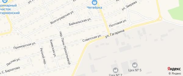 Советская улица на карте поселка Новой Игирмы с номерами домов
