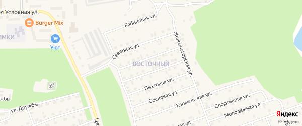 Ольховая улица на карте Восточного микрорайона с номерами домов