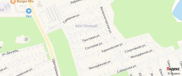 Пихтовая улица на карте Восточного микрорайона с номерами домов