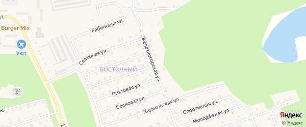 Железногорская улица на карте Восточного микрорайона с номерами домов