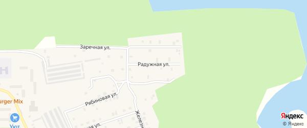 Радужная улица на карте Соснового микрорайона с номерами домов