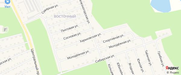 Харьковская улица на карте поселка Новой Игирмы с номерами домов