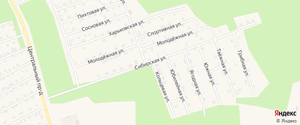 Сибирская улица на карте Восточного микрорайона с номерами домов