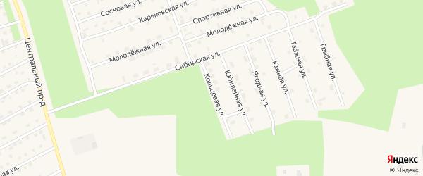 Кольцевая улица на карте Восточного микрорайона с номерами домов