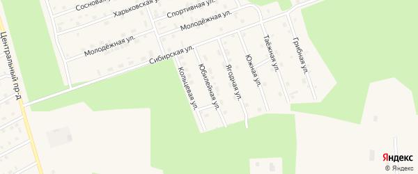 Юбилейная улица на карте Восточного микрорайона с номерами домов