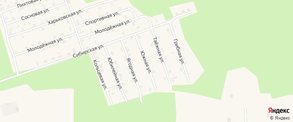 Южная улица на карте Восточного микрорайона с номерами домов