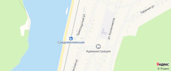 Октябрьская улица на карте поселка Шестаково с номерами домов