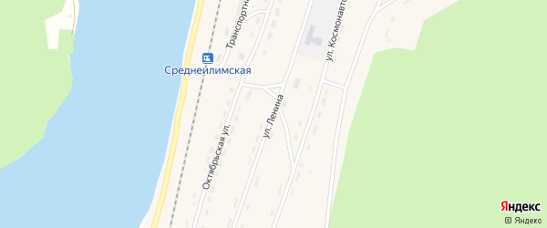 Улица Ленина на карте поселка Шестаково с номерами домов