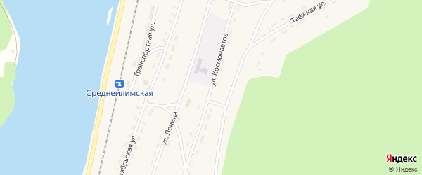 Улица Космонавтов на карте поселка Шестаково с номерами домов