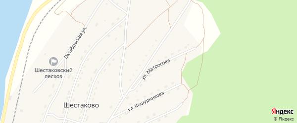 Молодёжная улица на карте поселка Шестаково с номерами домов