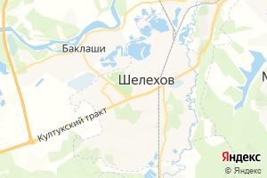 Карта г. Шелехов Иркутская область