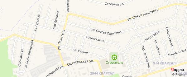 Советская улица на карте Шелехова с номерами домов