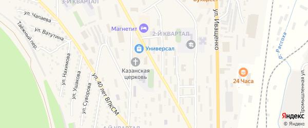 Улица Строителей на карте Дальнего поселка Иркутской области с номерами домов