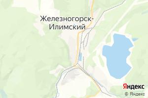 Карта г. Железногорск-Илимский Иркутская область