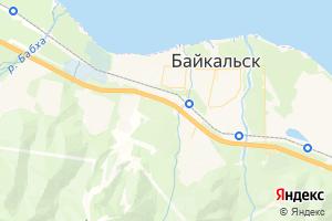 Карта г. Байкальск Иркутская область