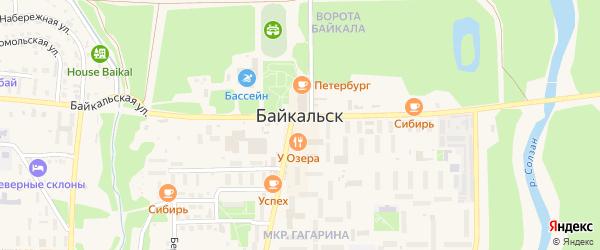 Территория Промплощадка на карте Байкальска с номерами домов