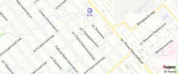 Улица Пржевальского на карте Иркутска с номерами домов