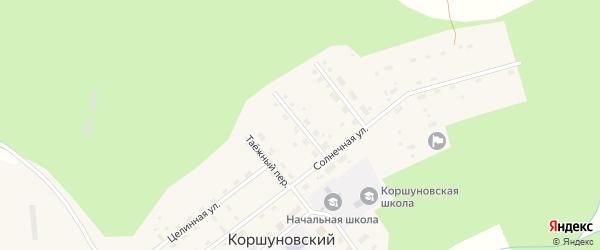 Первомайская улица на карте Коршуновский поселка Иркутской области с номерами домов