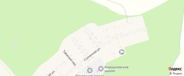 Улица Ворошилова на карте Коршуновский поселка Иркутской области с номерами домов