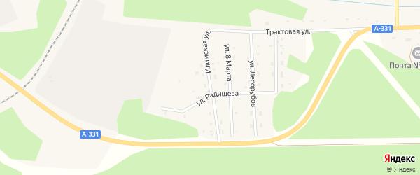Илимская улица на карте поселка Хребтовой с номерами домов