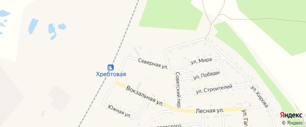 Северная улица на карте поселка Хребтовой с номерами домов