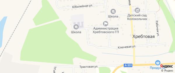 Пионерская улица на карте поселка Хребтовой с номерами домов