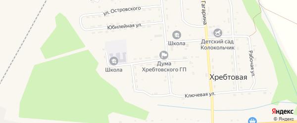 Улица Горького на карте поселка Хребтовой с номерами домов