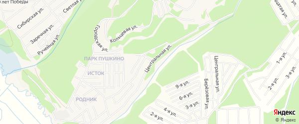 Территория СНТ Медицинский городок на карте поселка Маркова Иркутской области с номерами домов