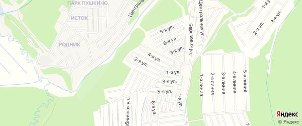 Территория СНТ Ручеек-1 на карте Иркутского района Иркутской области с номерами домов