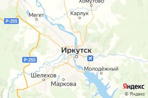 Карта г. Иркутск Иркутская область