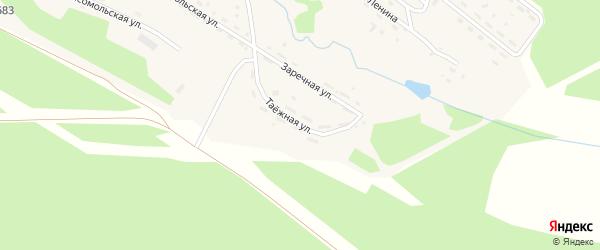 Таёжная улица на карте поселка Хребтовой с номерами домов