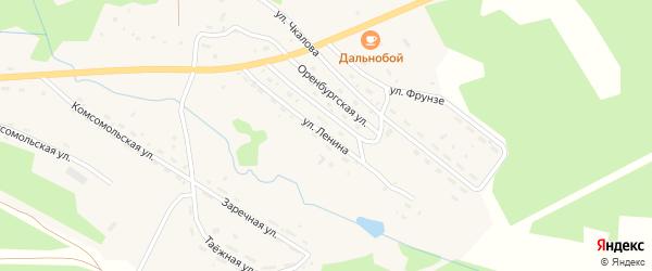 Улица Ленина на карте поселка Хребтовой с номерами домов