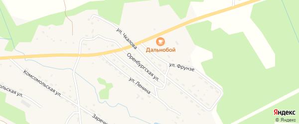 Улица Чкалова на карте поселка Хребтовой с номерами домов